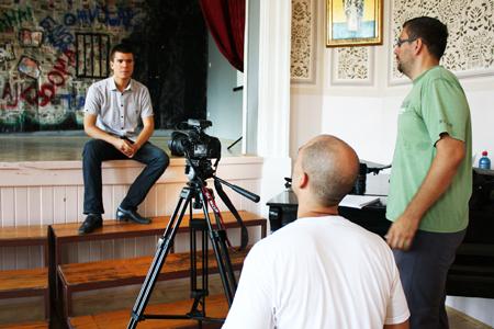 Boris Malagurski - Snimanje filma