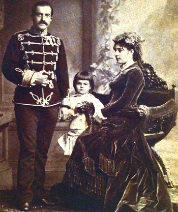 Kralj Milan Obrenovic sa suprugom Natalijom i sinom Aleksandrom