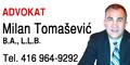 Milan Tomasevic Advokat